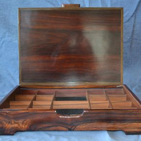 Custom Cocobolo Furniture  Custom Made Cocobolo and Custom Cocobolo     Jewelry Keepsake Boxes Of Cocobolo And Brazilian Rosewood by Dennis  Chenoweth