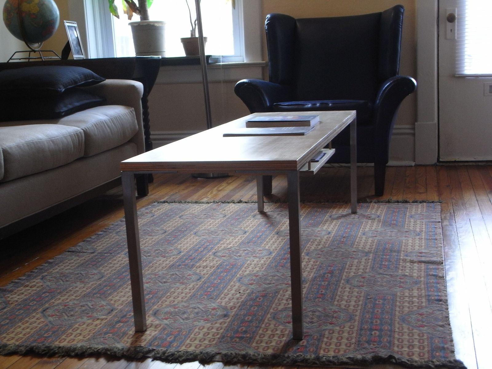 hand made skinny coffee table by collab