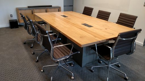 Hand Made Reclaimed Wood And Steel Industrial Conference Table By Redwell