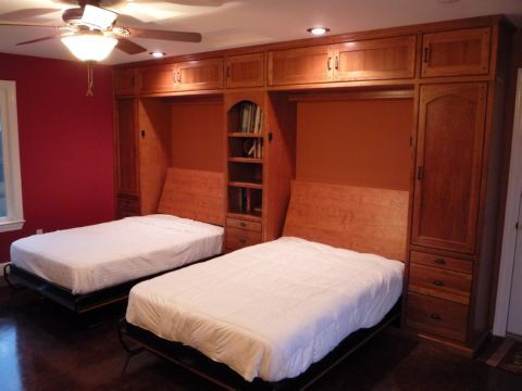 Custom Cherry Wall Bed Murphy Bed By Natural Choice