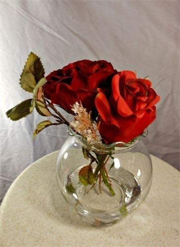 Hand Made Double Red Rose Centerpiece By Marys4everflowers