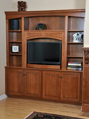 Custom Fireplace Mantel And Entertainment Center By HampM