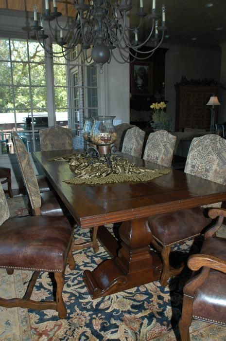 Handmade Tuscan Dining Table By Red Leaf Design Llc