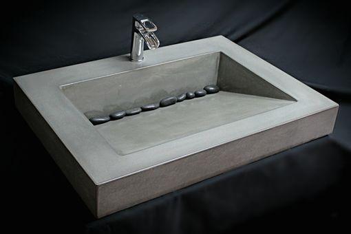 Handmade Custom Concrete Ramp Sink By The Concrete Sink