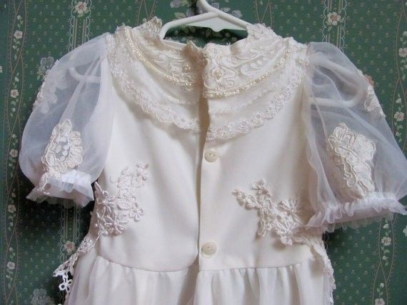 Hand Made Baptismal Gown, Christening Gown, Toddler/Infant