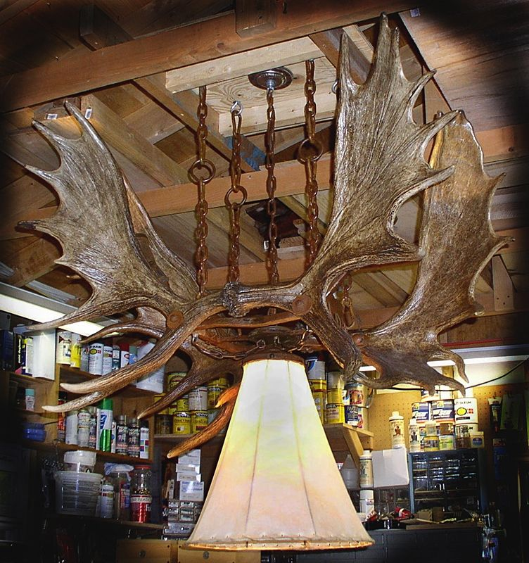 Hand Made Moose Antler Chandelier By Southwest Style Decor