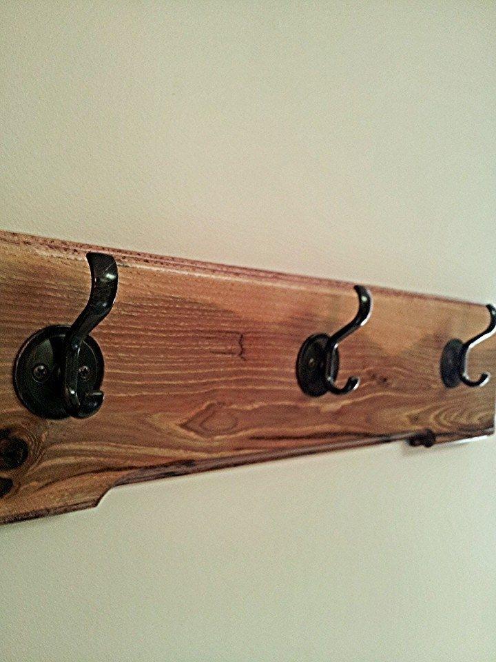 Custom Dark Hickory 3 Coat Rack By BRADSHAW WOODWORKS