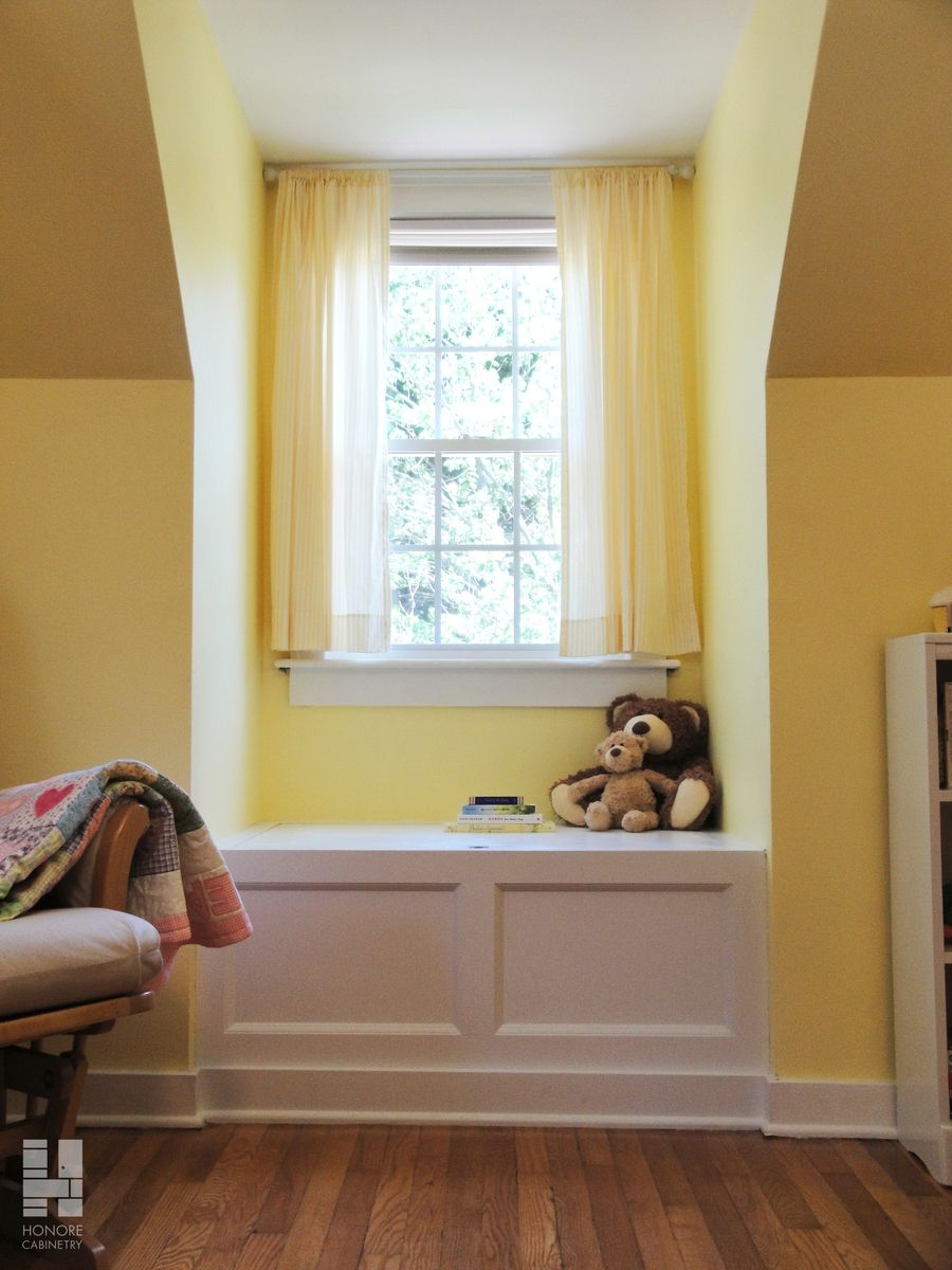 Hand Made Custom Cabinetry Built In Window Seat With
