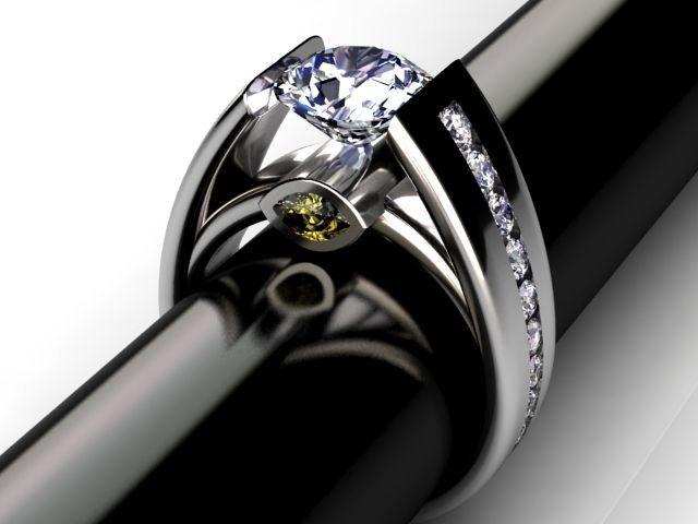 Custom Palladium Cathedral Diamond Ring By Jewelsmiths