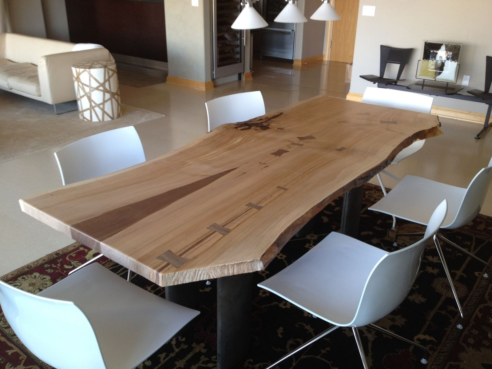 Hand Crafted Living Edge Cherry Dining Table By Opa's