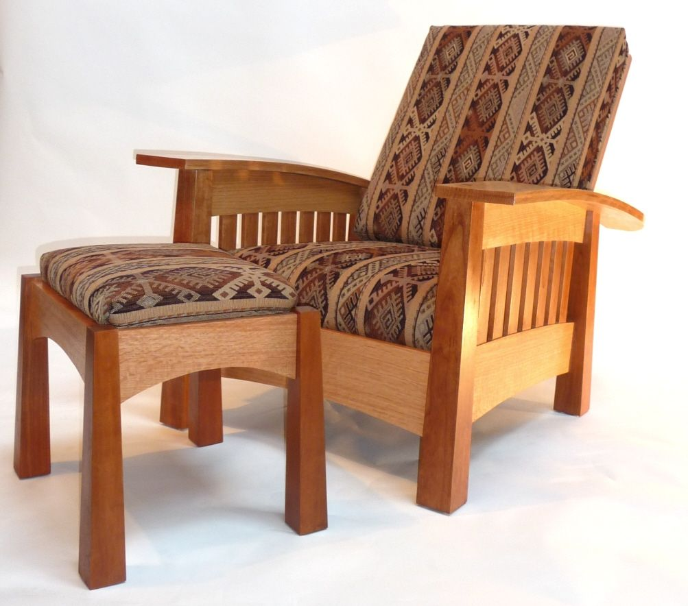 Handmade California West Bow Arm Morris Chair By Murphys