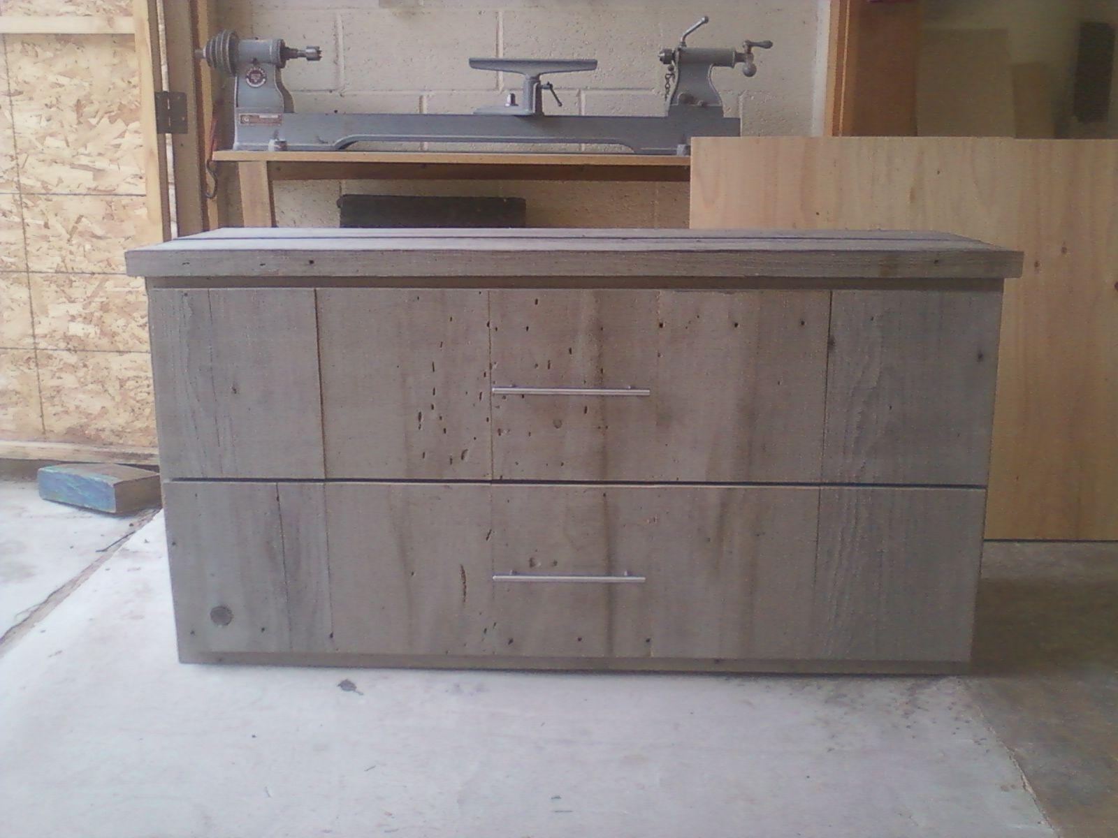 Hand Made Reclaimed Wood File Cabinet By Santini Custom