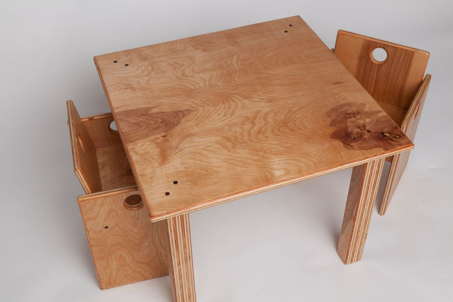 Custom Made Children S Wooden Table And Chair Set By Fast