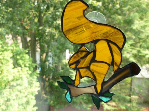 Buy A Handmade Stained Glass Red Squirrel On Branch Made To Order From Glass Monkey Arts York