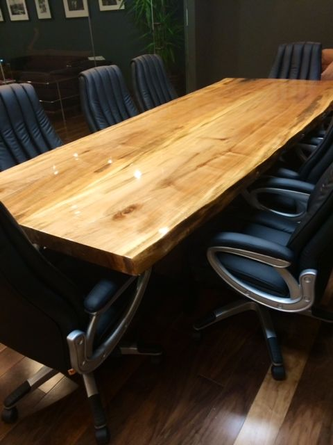 Buy A Custom Live Edge Conference Table Made To Order