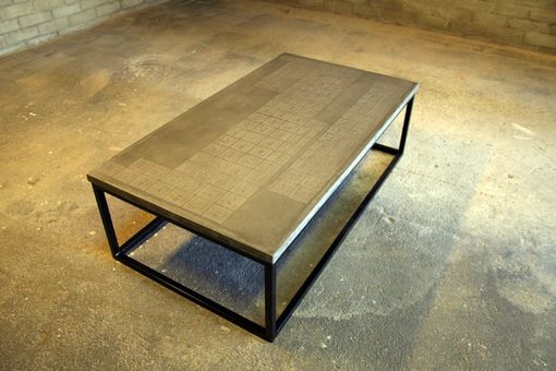 Custom Made Periodic Concrete Coffee Table By James Dewulf