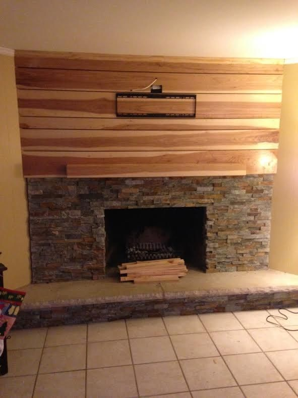 Custom Hickory Fireplace Mantle By Customcraft Homes