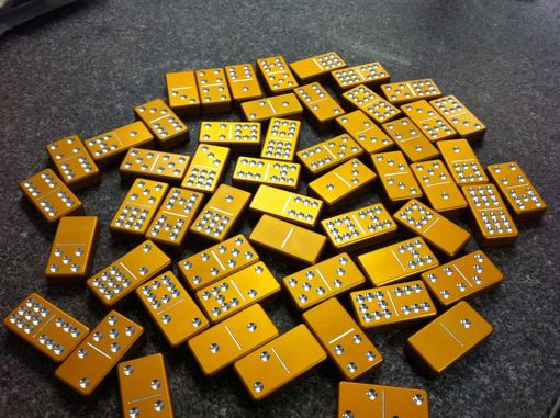 Buy A Custom Double 9 Aluminum Domino Set Made To Order