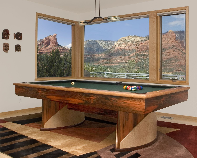 Custom Ovoid Pool Table By Hatch Studio