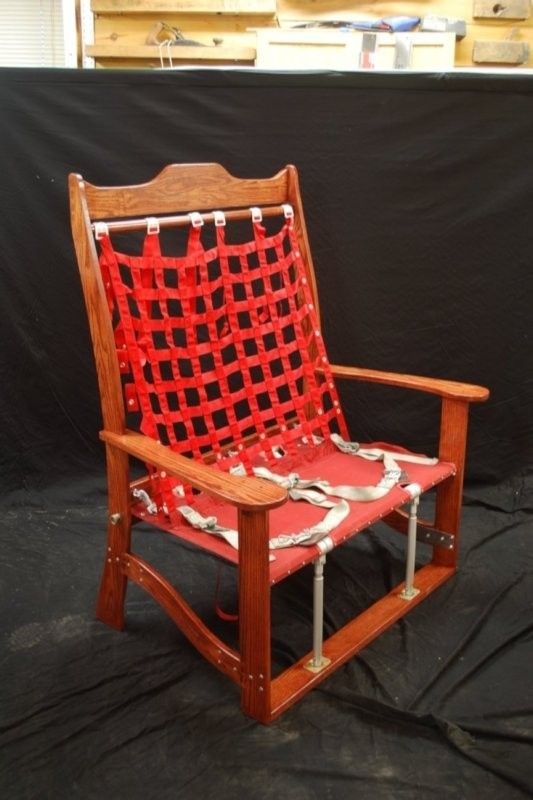 Hand Crafted C 130 Jump Seat Bench By Larue Woodworking