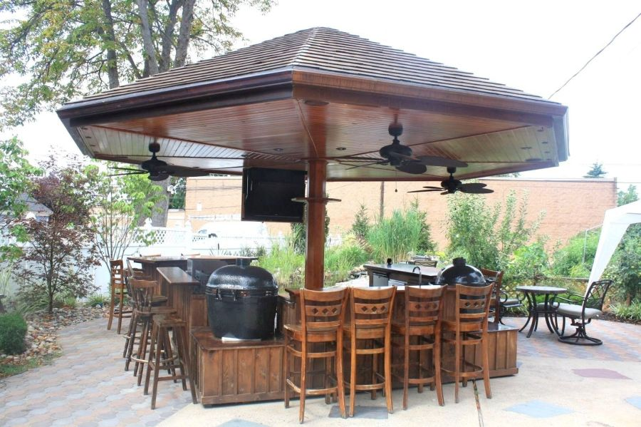 Handmade Primo Grill Outdoor Kitchen And Bar by Deck Kitchen     Custom Made Primo Grill Outdoor Kitchen And Bar
