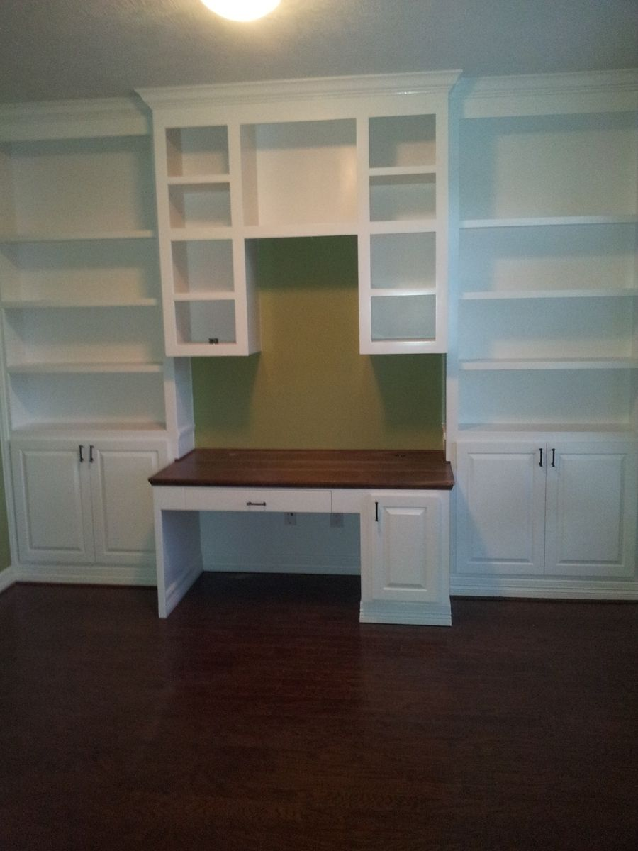 Hand Made Home Office Book Shelves And Desk By Rockytop Woodworks