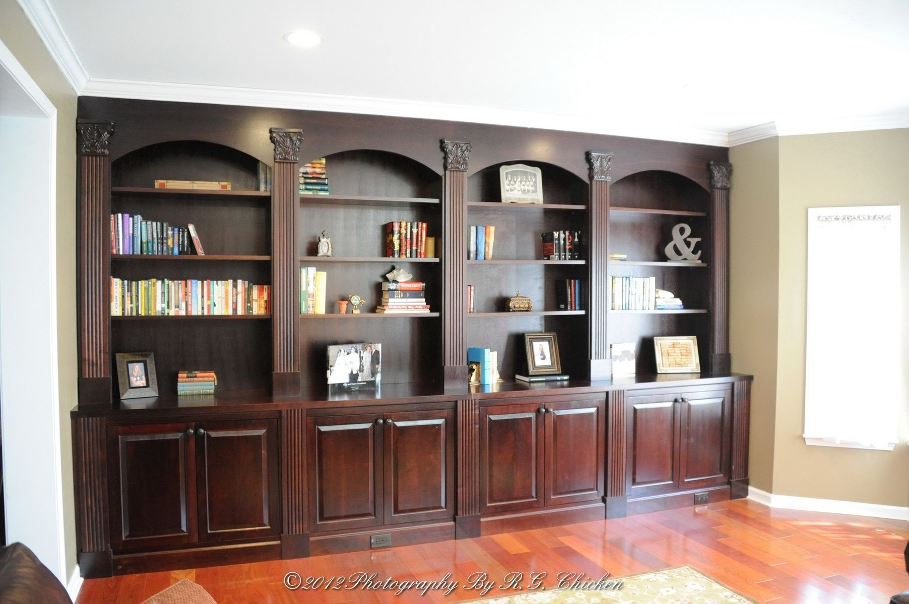 Custom Made Wall Unit With Bookshelves And Storage By Oak