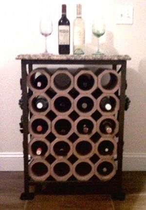 Hand Crafted 20 Bottle Wrought Iron Amp Terracotta Wine Rack