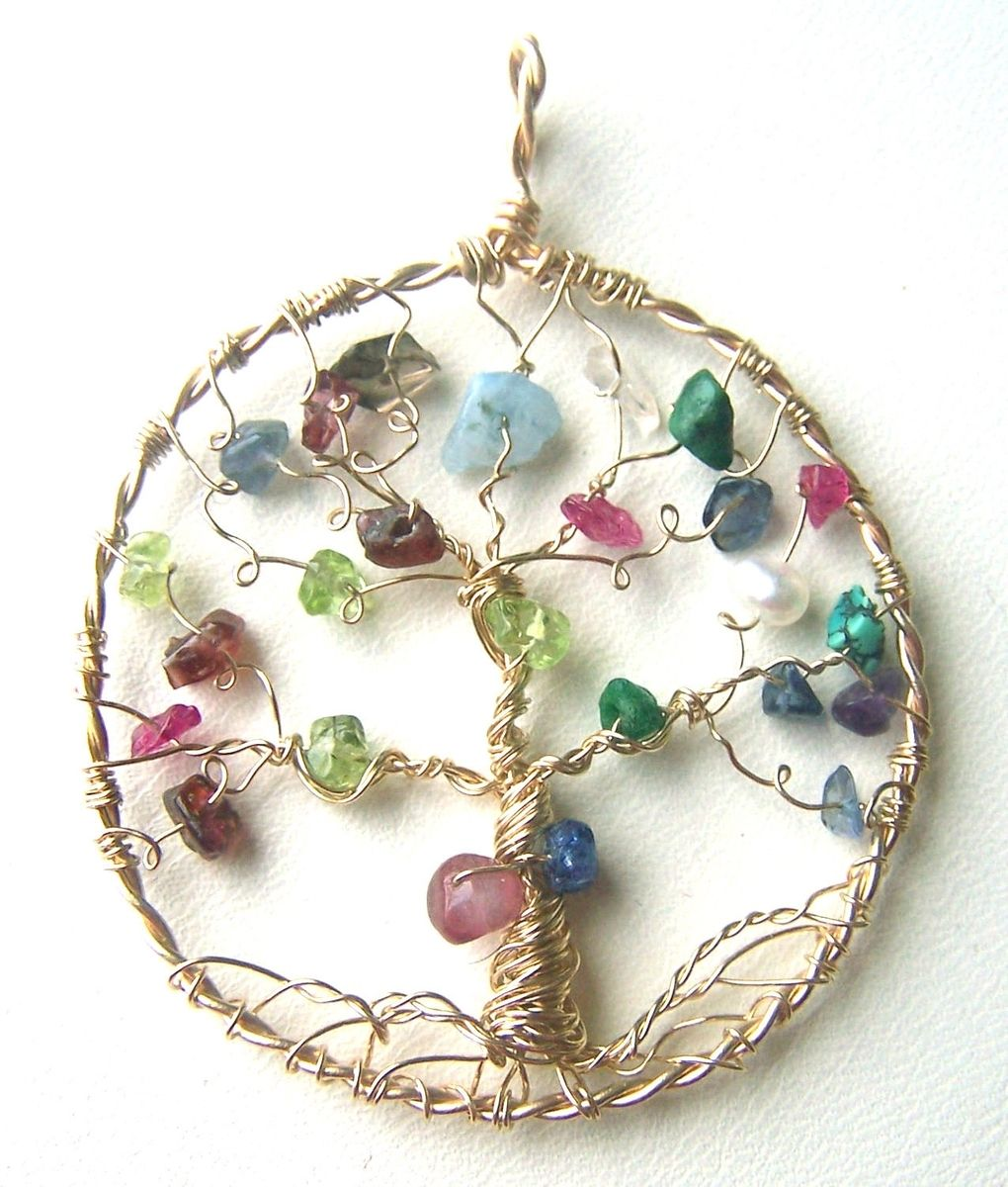 Family Birthstone Necklace 10 Stones