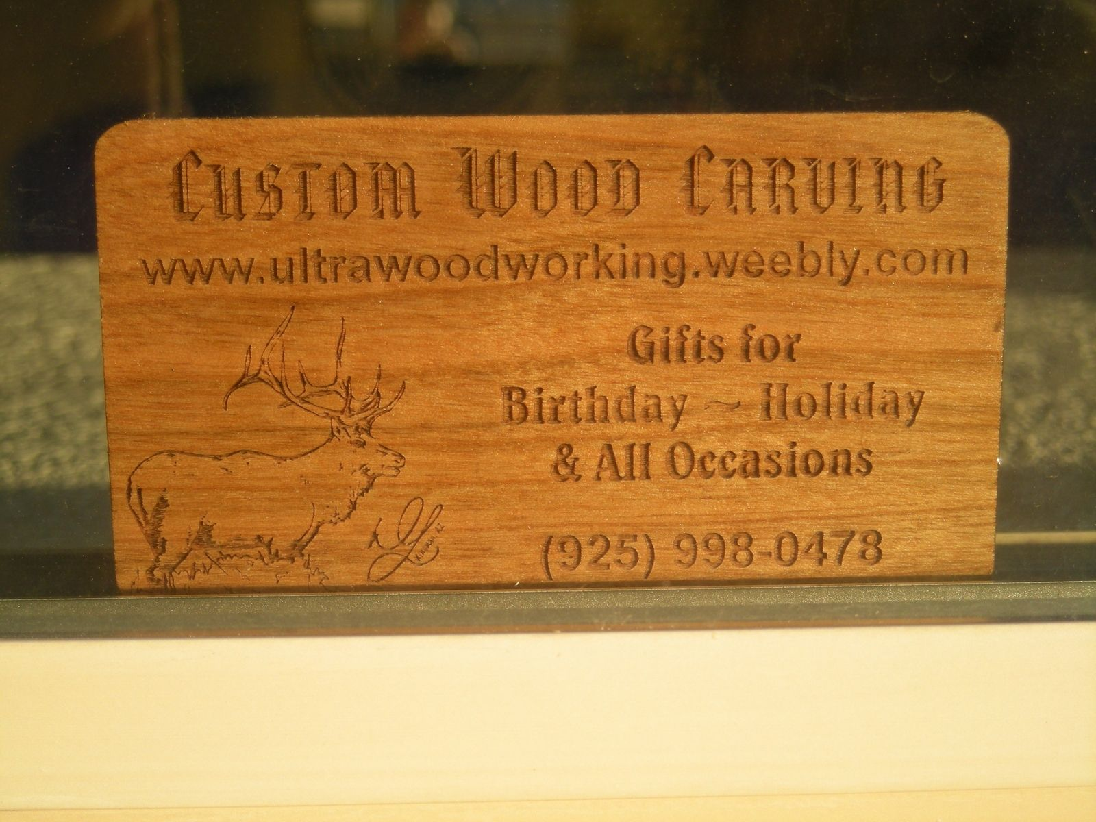 Custom Made Business Cards By Woodworking