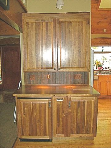 Custom Made Rustic Walnut Bar Cabinet By Five Points