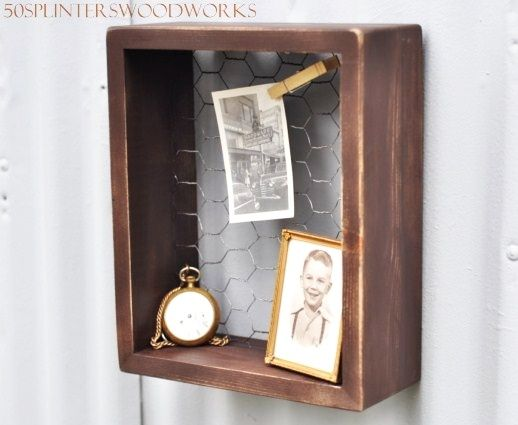 Hand Made Rustic Shadow Box By 50Splinters Woodworks