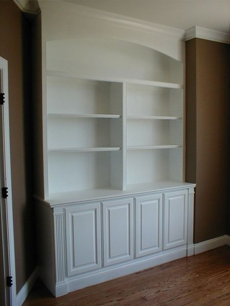 Custom Made Built In Bookcase And Cabinets By Norms Custom Woodworking