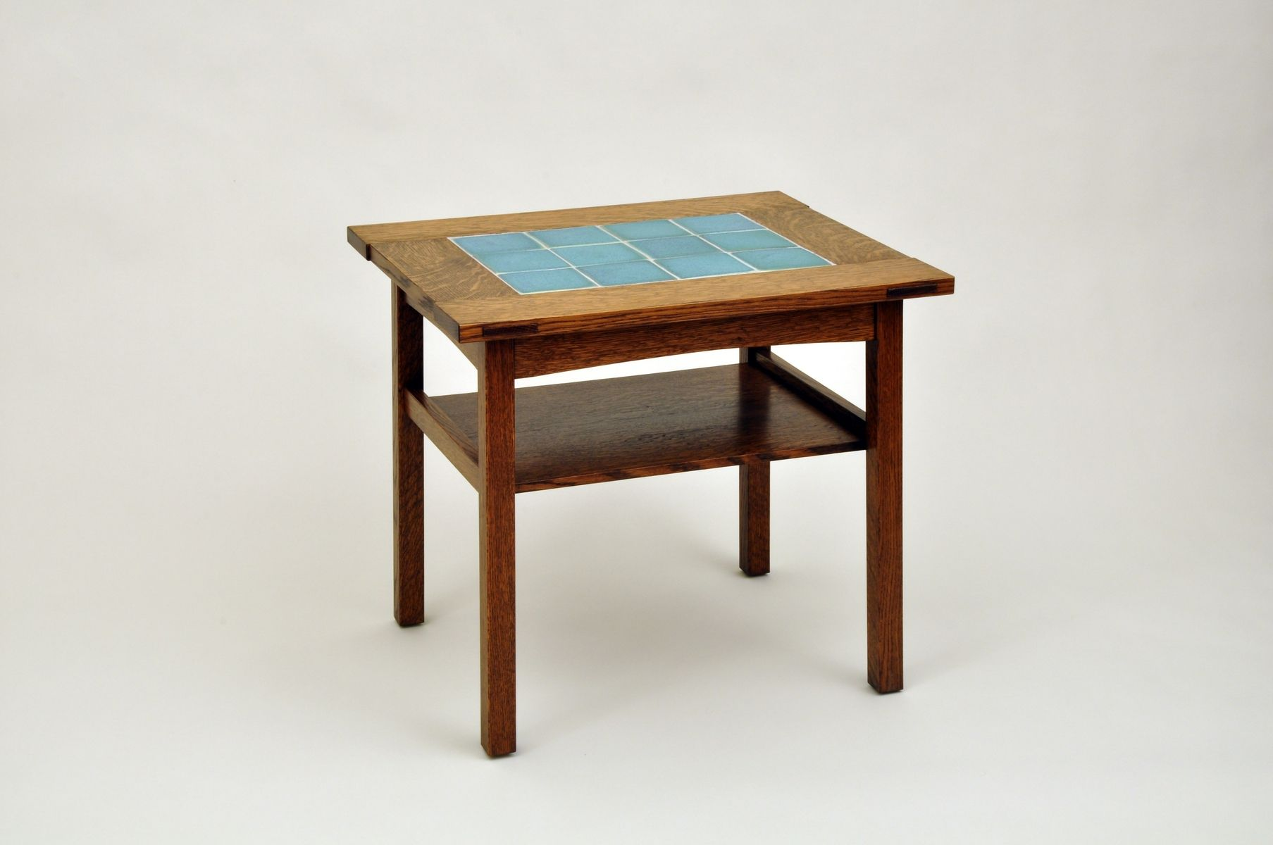 custom arts and crafts end table by