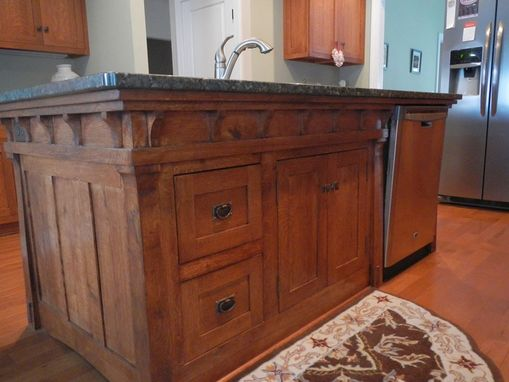 Handmade Arts And Crafts Style Kitchen Island By PAULS