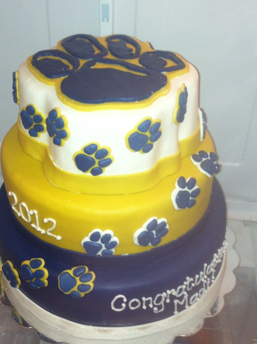 Hand Crafted University Of Pittsburgh Cake By Cakes By