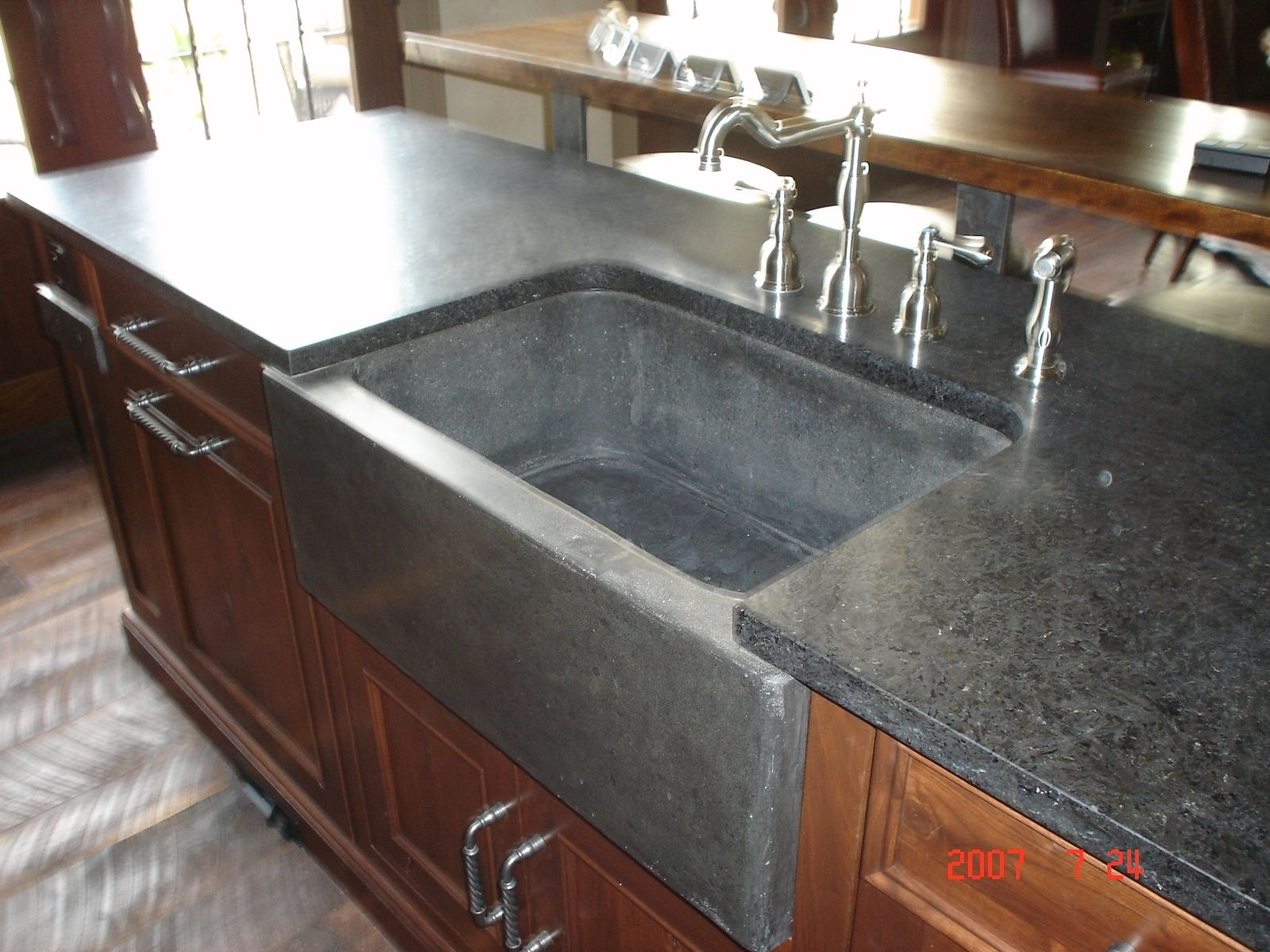 Hand Crafted Farm Sink And Slab By Rock And A Hard Place