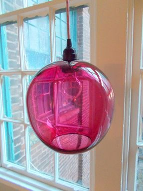 Custom 10 Inch Globe Hand Blown Glass Pendant Lighting By