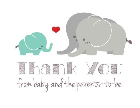 Buy Hand Crafted Gender Neutral Elephant Baby Shower Thank