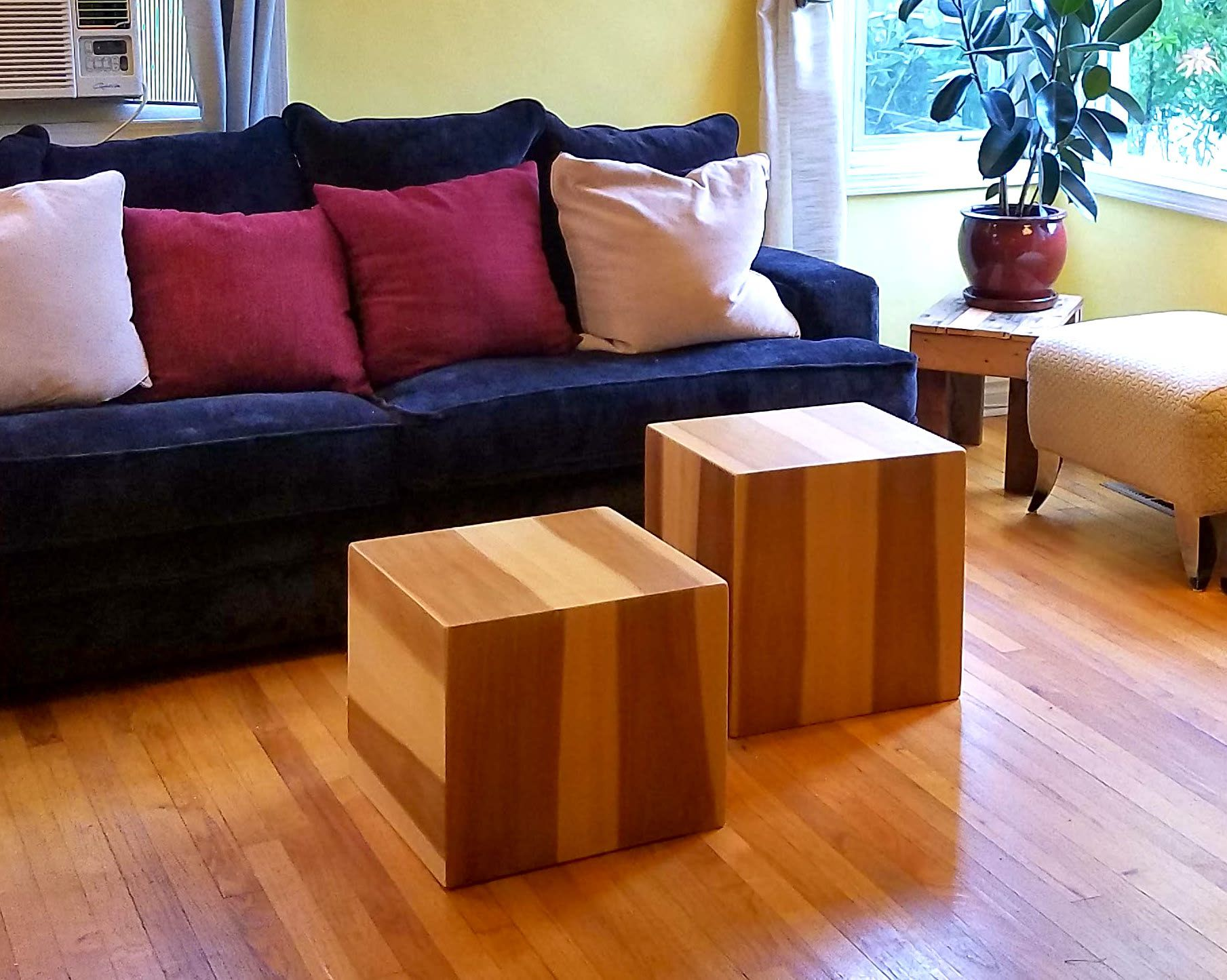 custom coffee table or end table cubes