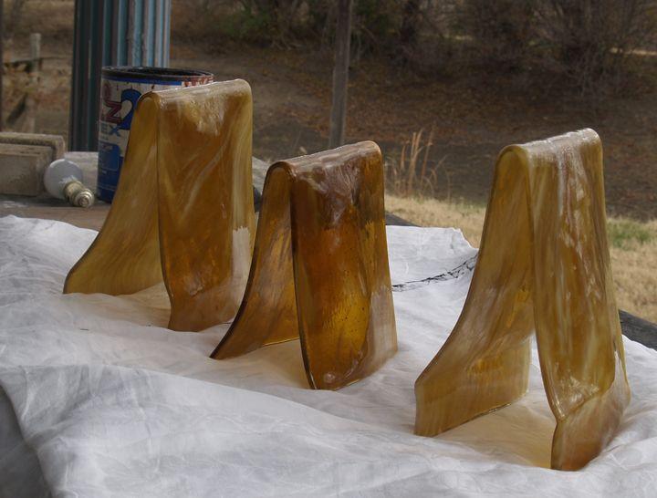 Custom Slumped Glass Lampshades By David L Zvanut Fine