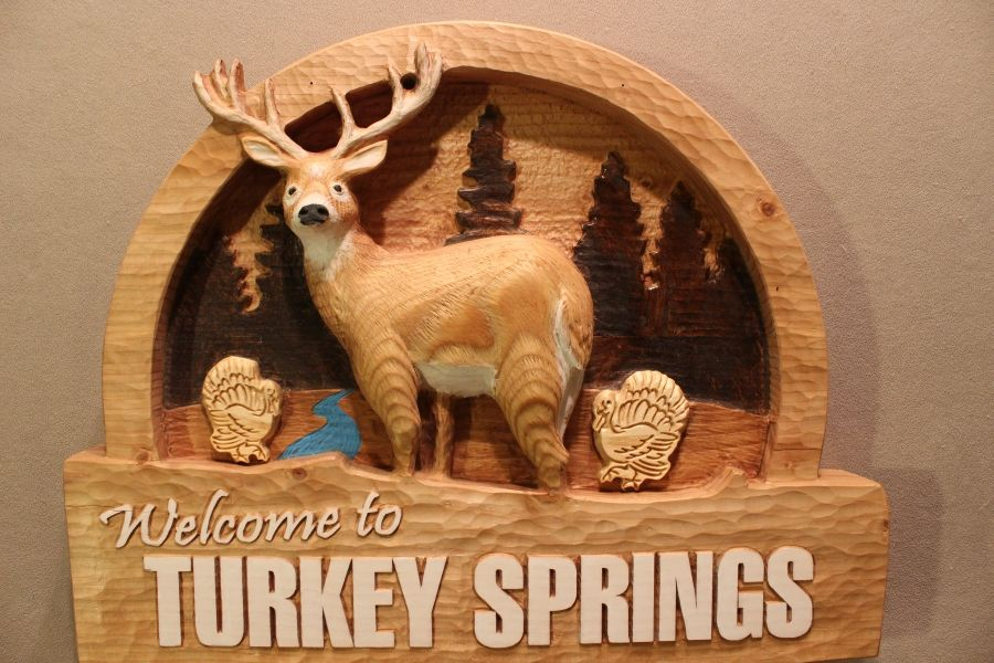 Hand Made Custom Carved Wood Signs Deer Signs Cabin