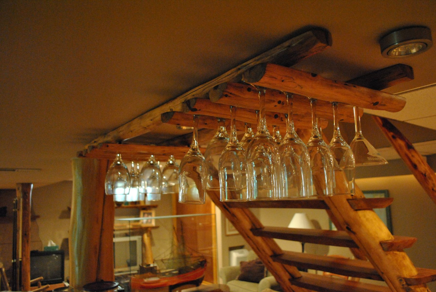 Hand Made Custom Wine Glass Rack By Phils Woodwork