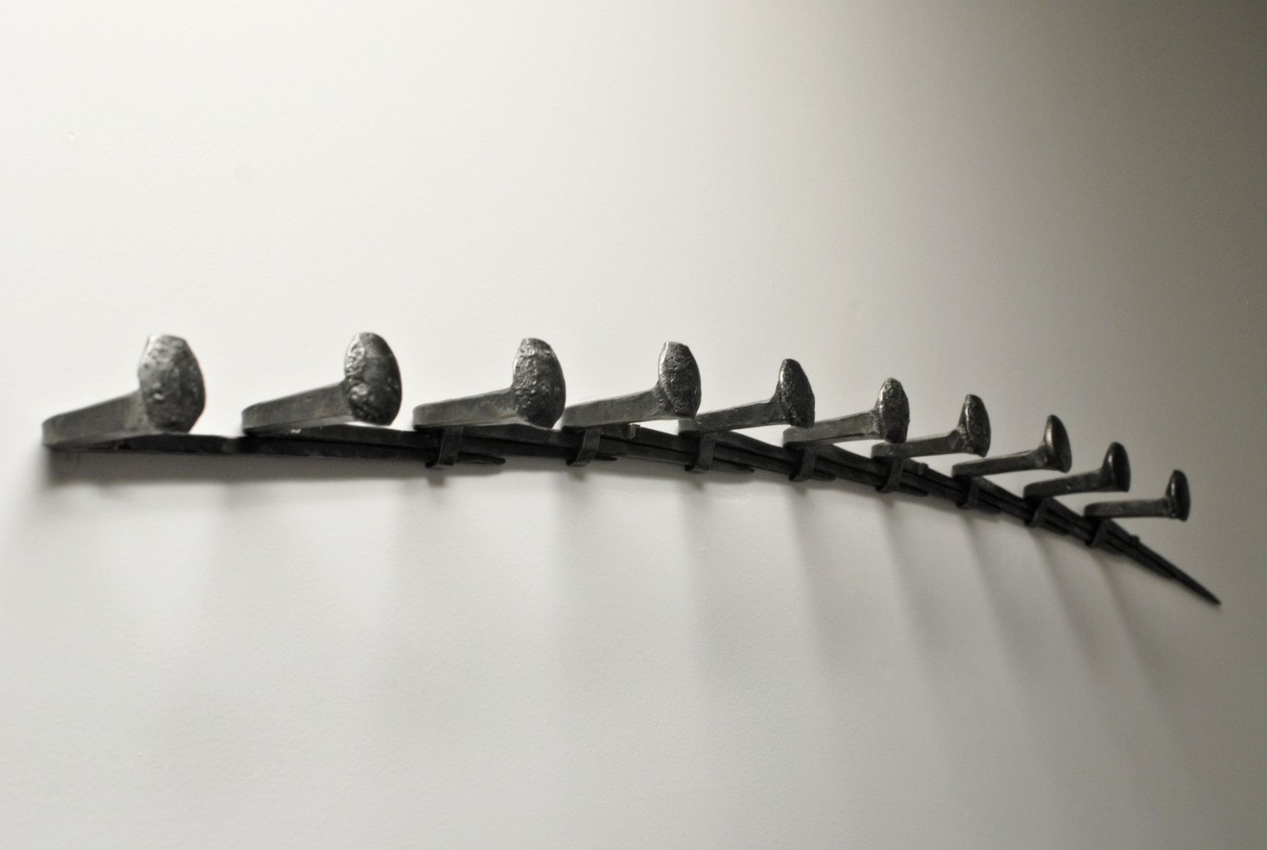 Hand Crafted Hand Forged Coat Rack By Phoenix Handcraft