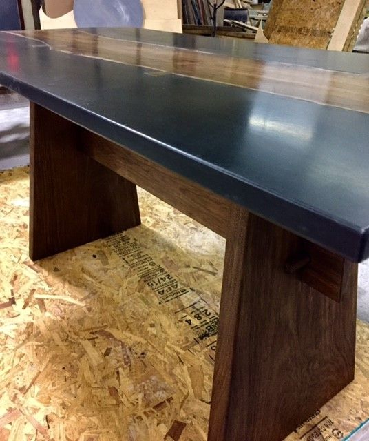 Handmade Live Edge Dining Table With Concrete By 910