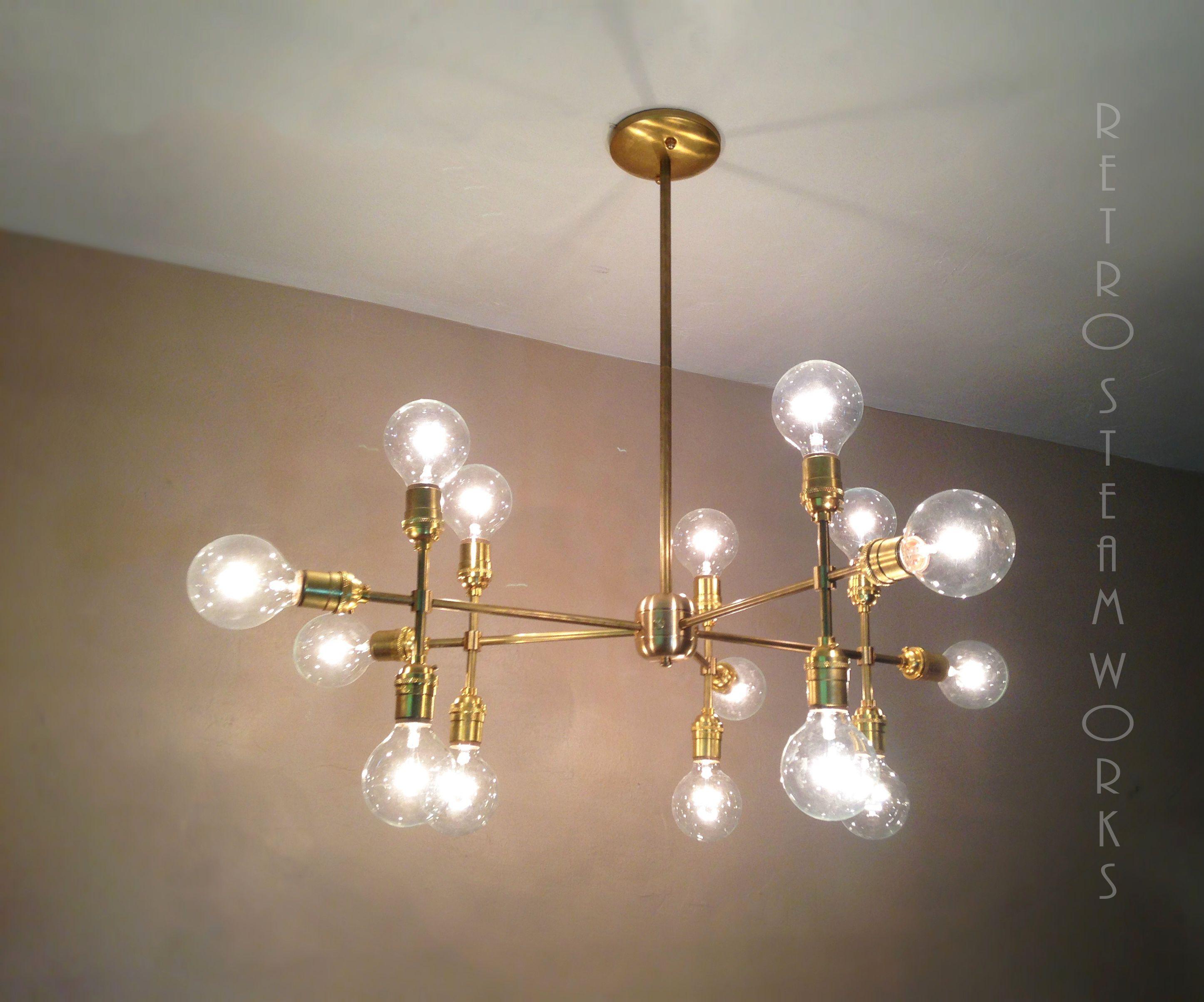 multiple light edison bulb chandelier