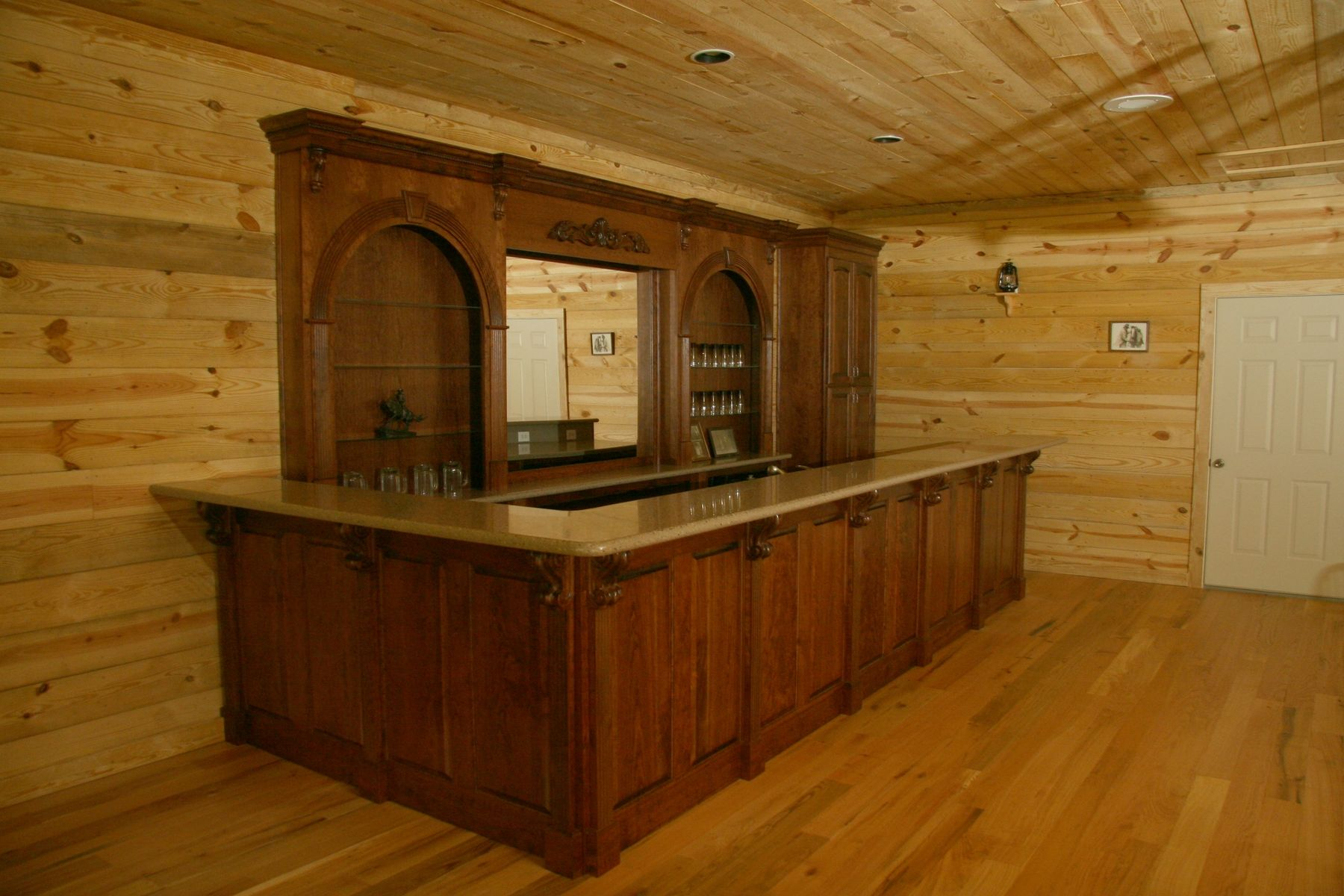 Hand Made Western Bar By Oak Creek Cabinets