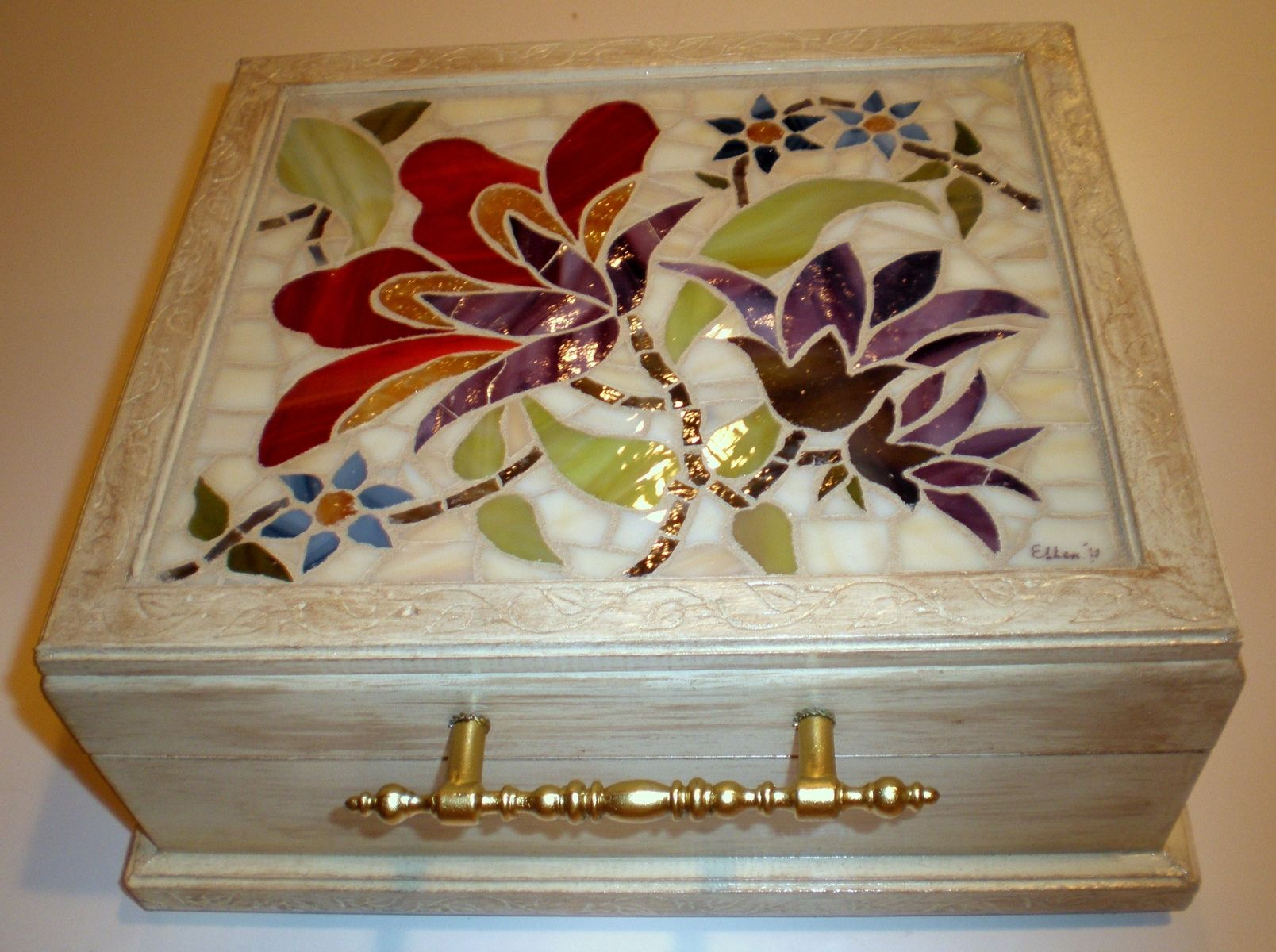 Custom Stained Glass Mosaic Box By Arc Designs By Ellen
