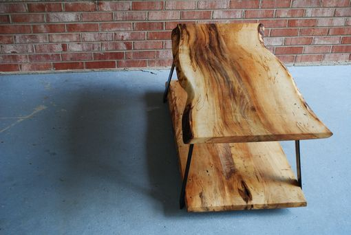 Hand Crafted Live Edge Magnolia Coffee Table By Five Fork