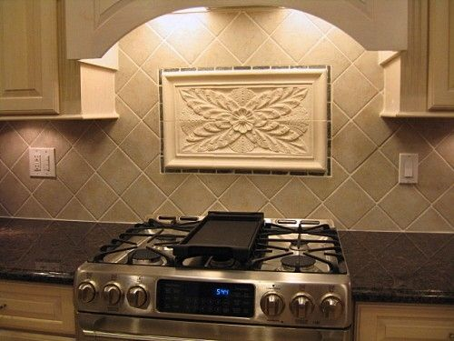 Hand Crafted Kitchen Backsplash Tiles Using Colonial